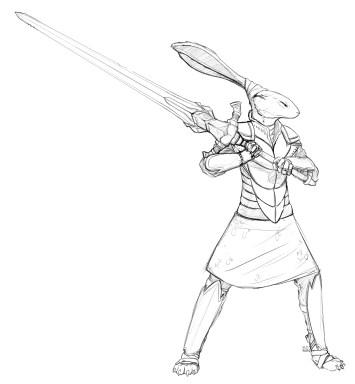 knight-hare-sketch