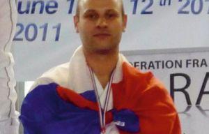 Christophe 3e d'Europe en 2011