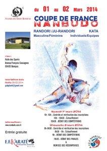 Affiche de la coupe de France de Nanbudo 2014