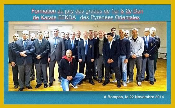 Jury des Grades de 1er et 2e Dan de Karate