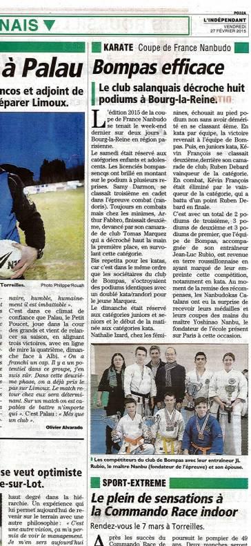 Article coupe de France 2015