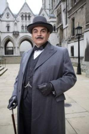 From: ITV PRODUCTIONS IN ASSOCIATION WITH CHORION POIROT - Mrs McGinty's Dead When charwoman Mrs McGinty dies from a brutal blow to the back of her head suspicion immediately falls on her shifty lodger, James Bentley [Joe Absolom], whose clothes reveal traces of the victim's blood and hair. Yet something is amiss and Superintendent Spence [Richard Hope], who was responsible for arresting Bentley, has grave doubts about his guilt and approaches the Belgian detective for assistance. Poirot [DAVID SUCHET] travels to the small village of Broadhinney to investigate the circumstances of Mrs McGinty's murder and meets the inhabitants, all of whom present veneers of normality behind which lurk dark secrets. As he investigates deeper into the mystery, he recruits the help of his acquaintance Ariadne Oliver (Zoe Wanamaker), the famous crime novelist, who is staying in the village to work on a new stage adaptation of her work. What Poirot uncovers is a link to two brutal crimes from many years before and the realisation that someone in the village has a secret they are willing to kill to keep. Mrs McGinty's Dead also stars Sarah Smart, Lesley Nicol, Ruth Gemmell, Raquel Cassidy, Richard Dillane, Emma Amos, Simon Shepherd, Billy Geraghty, Mary Stockley, Richard Lintern, Paul Rhys, Sian Phillips, Catherine Russell and Amanda Root Picture shows: DAVID SUCHET as Hercule Poirot ITV Picture contact - Pat Smith - 084488 13044 Photographer - Jon Hall - Digital This photograph is [C] ITV Plc and can only be reproduced for editorial purposes directly in connection with the programme or event mentioned above, or ITV plc. Once made available by ITV plc Picture Desk, this photograph can be reproduced once only up until the transmission [TX] date and no reproduction fee will be charged. Any subsequent usage may incur a fee. This photograph must not be manipulated [excluding basic cropping] in a manner which alters the visual appearance of the person photographed deemed detrimental