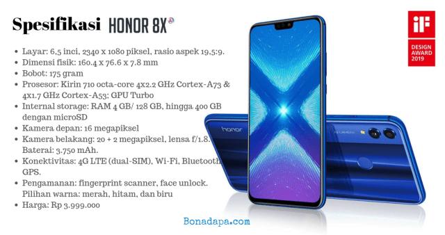 Spesifikasi Honor 8X Smartphone Murah