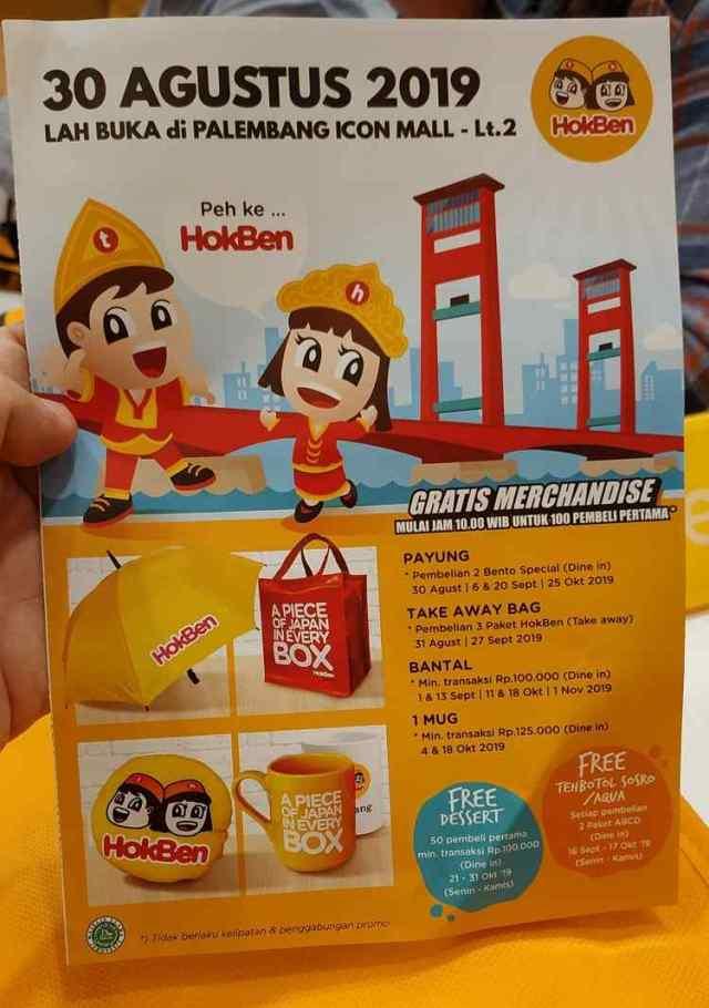 Promo Flyer HokBen Palembang