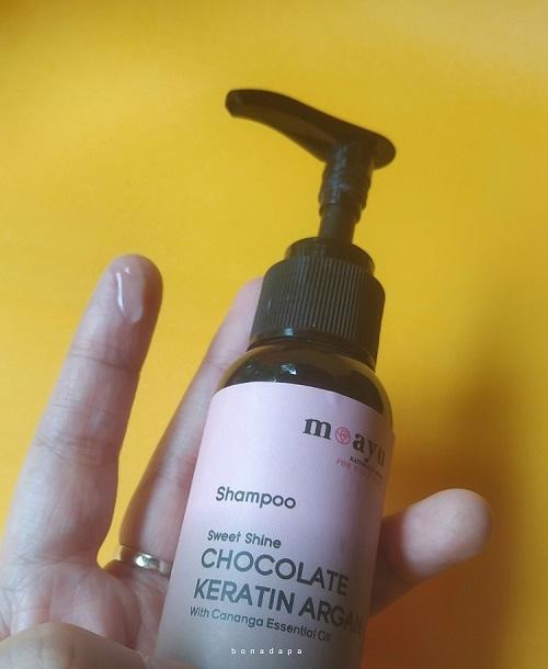 Shampoo cokelat Moayu