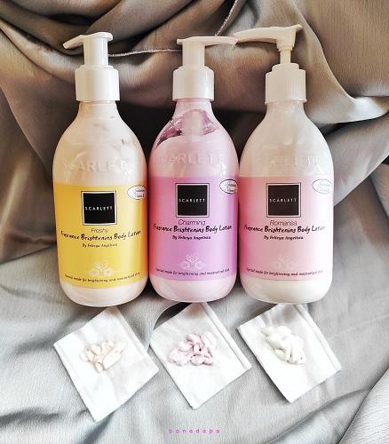 Tekstur Scarlett Fragrance Brightening Body Lotion