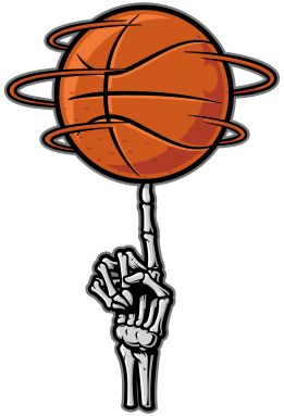 Bonafide Basketball-Skeleton Hand ©Copyright