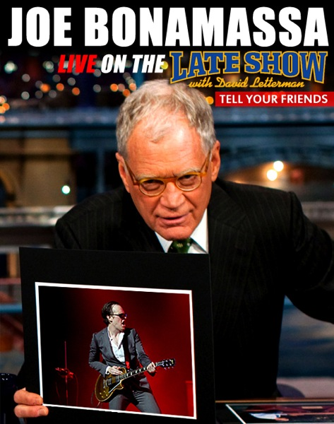 Joe bonamassa david letterman