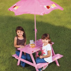 Step2 Table And Chairs With Umbrella Red Accent Chair Children's Picnic | Rainwear