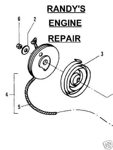 RECOIL STARTER PULLEY MCCULLOCH EAGER BEAVER 2.3 430