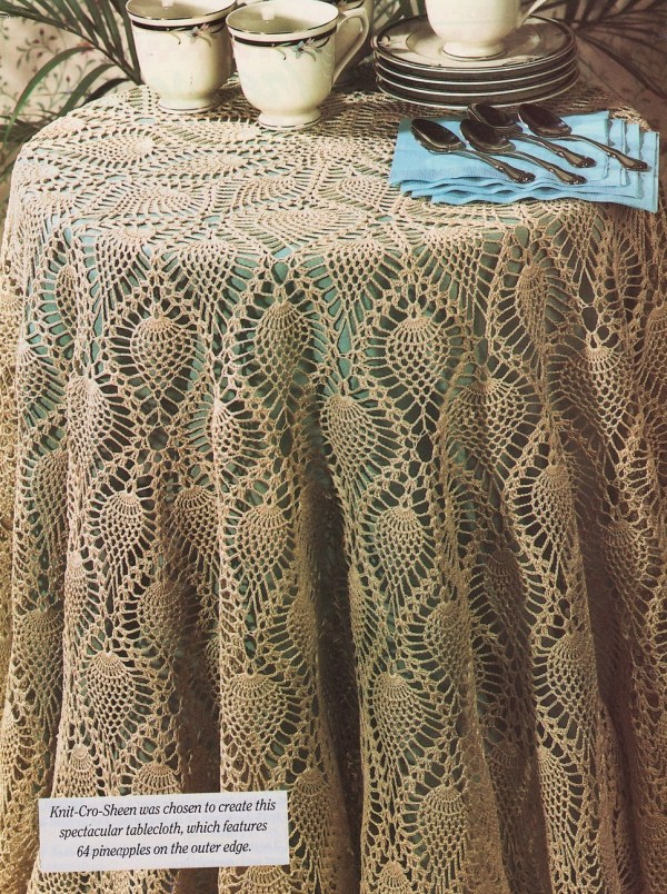Pineapple Tablecloth Crochet Pattern 62 Inches