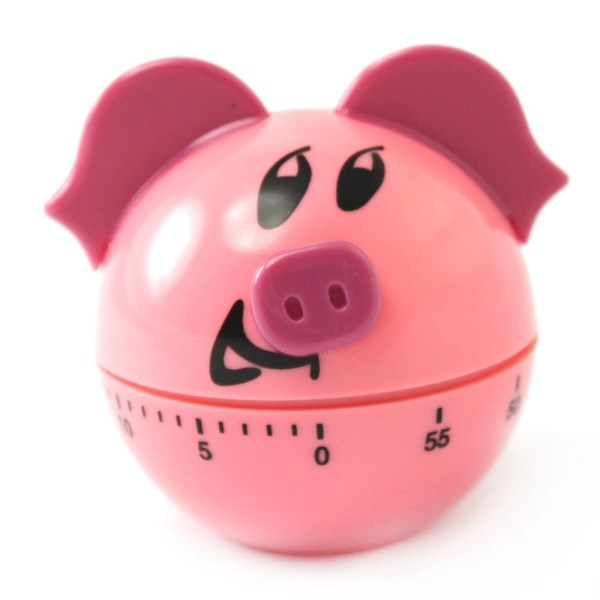 Pink Cartoon Pig Kitchen Cooking Timer 60 Minute - Timers