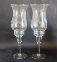Princess House Heritage Hurricane Candle Holder Set of Two ...