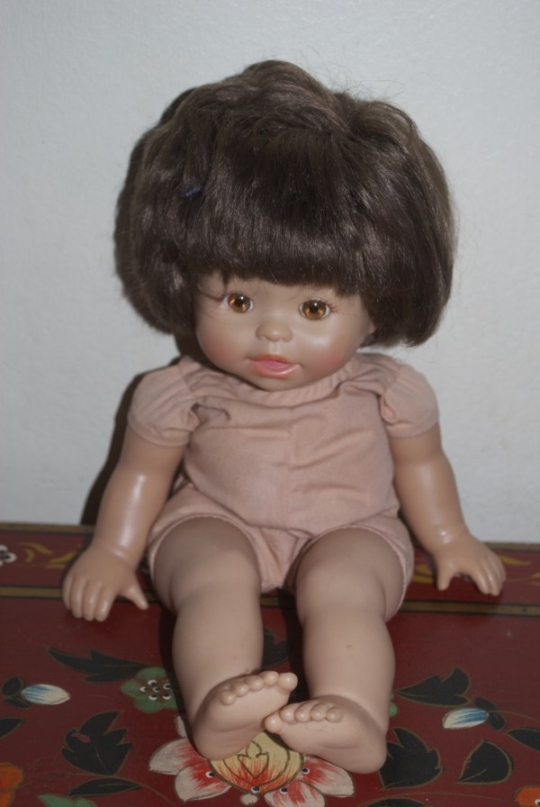 Fisher Little Mommy Baby Doll Brunette Brown Hair