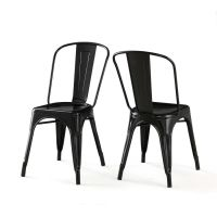 Black Metal Patio Chairs Image - pixelmari.com