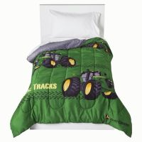 John Deere Comforter Tractor Twin Size Tracks Bedding Bed ...