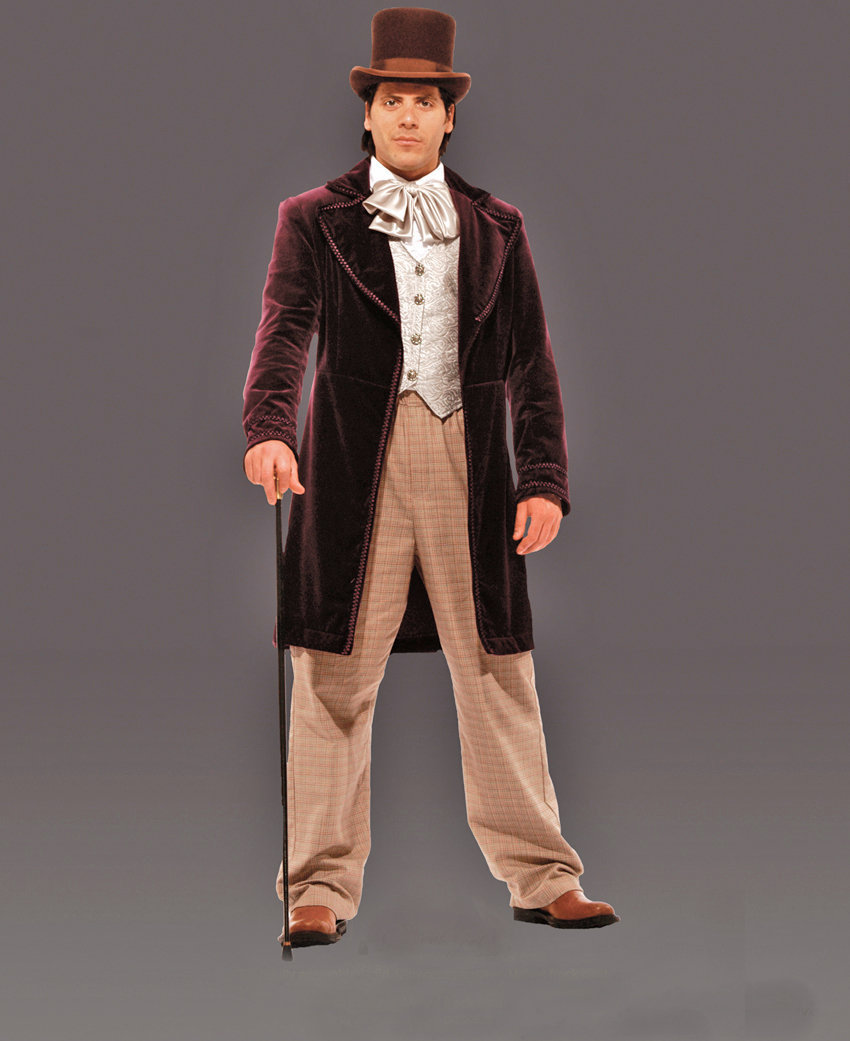 Excellent Men's Willy Wonka Costume Large Men