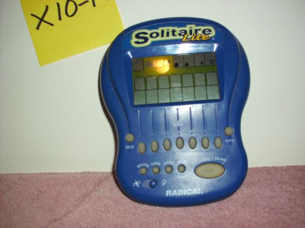 Used Radica Solitaire Handheld Game 42 Ads