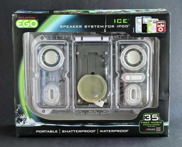 Ego Speaker System 4 Apple Ipod Portable Waterproof Shatterproof Atlantic Ice - Audio Docks