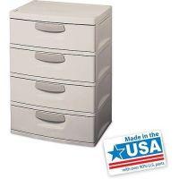 Heavy Duty Plastic Storage Dresser 4-Drawer Cabinet Dorm ...