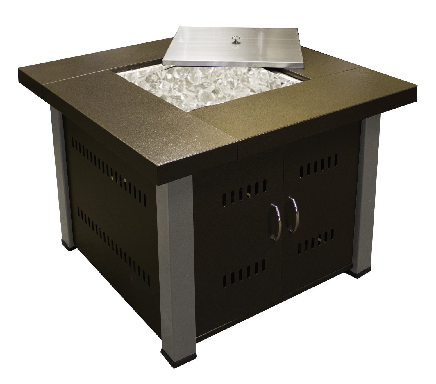 Square Gas Fire Pit Table Outdoor Propane Patio Furniture