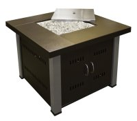 Square Gas Fire Pit Table Outdoor Propane Patio Furniture ...