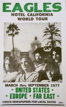 Eagles Hotel California 1977 Concert 8 1 2 X 11 Glossy