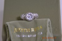 Judith Ripka Sterling Silver and Diamonique Ring / Size 6 ...