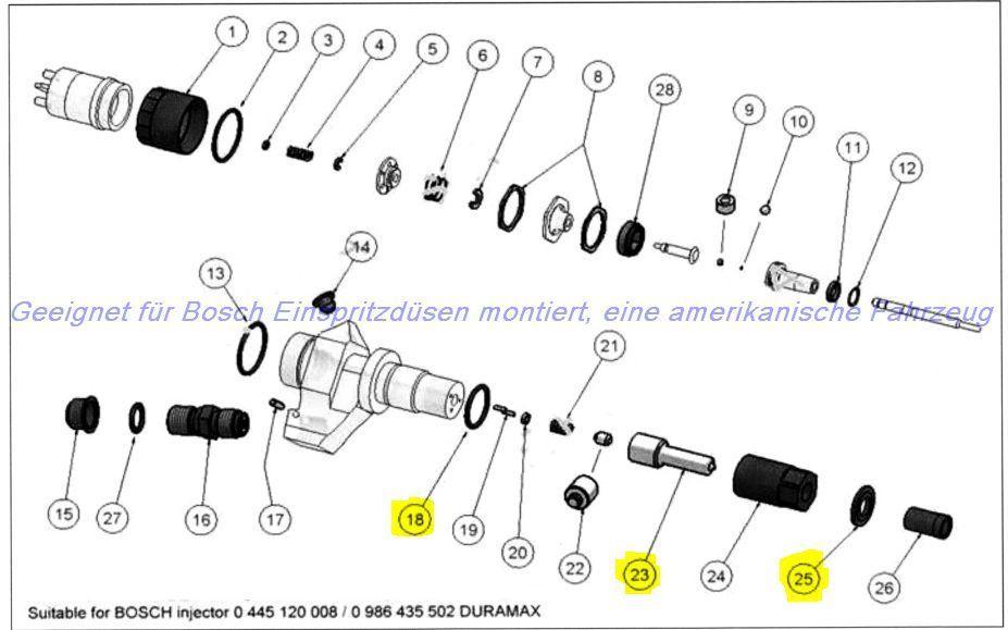 2001-2005 Chevy Duramax LB7 6.6L 6.6 Diesel Injector