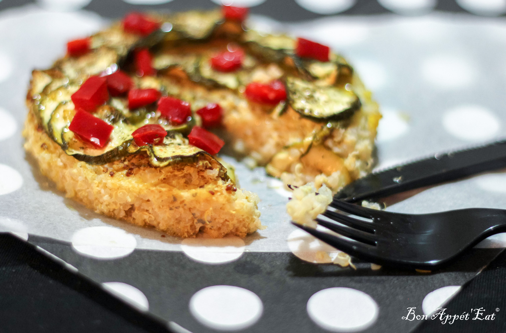 Here is a quick way to satisfy a vegetarian friend: Quinoa crust tart