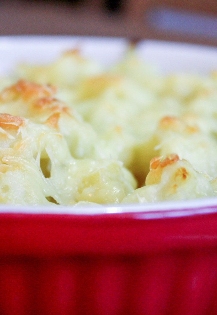 I think we all need comfort at this point: cauliflower gratin.