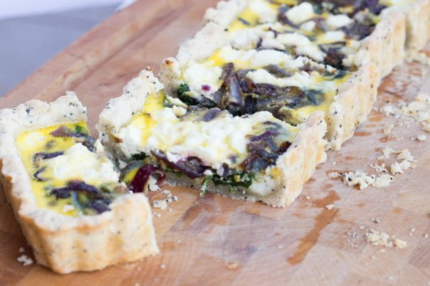 Onion and spinach tart