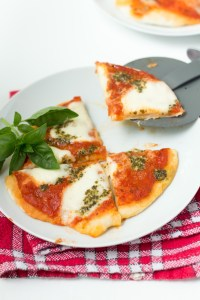 Mini Caprese pizza