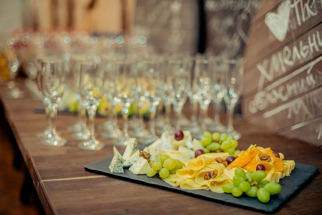 Cheese Platter and Glassware