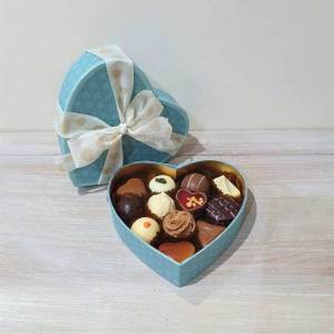 Assorted Luxury Heart Box - Teal