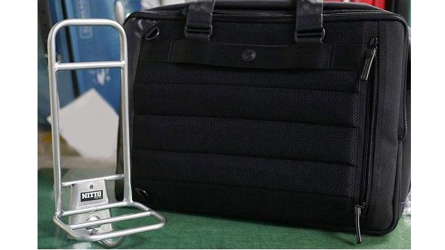 (BROMPTON)ブロンプトン / ビジネスバッグをNITTOのキャリアに脱着できるように改造