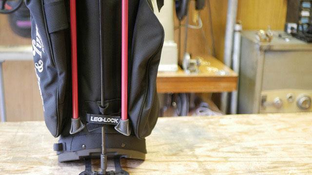 (BRIEFING)ブリーフィング / スタンドキャディバッグの折れ曲がったスタンドバーを交換修理