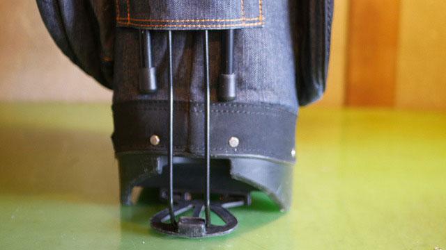 (EVISU)エヴィス/スタンドキャディバッグのスタンドバーゴム脚キャップを取替