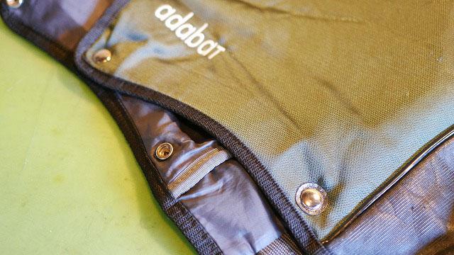 (adabat)アダバット/キャディバッグフードの生地破れを補強してホック交換