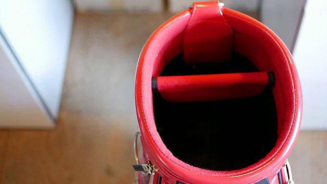 (ONOFF)オノフ/キャディバッグにセルフスタンドバッグが入るように仕切りを取り除く