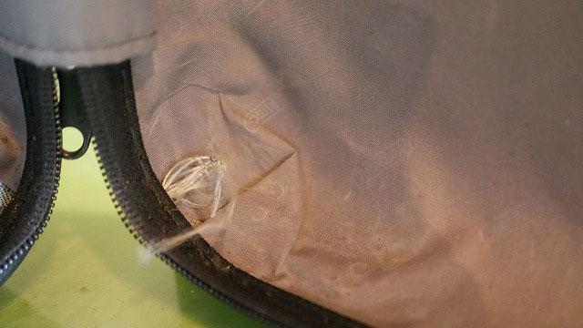 (RIMOWA)リモワ/2輪サルサの内装クロスベルトの解れ