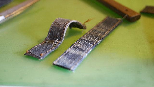 (ZIPANG STUDIO)琉球ゴルフ/キャディバッグのハンドルを固定するベルトの作製