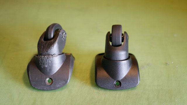(DUNLOP)ダンロップ/キャリーバッグのキャスター交換に使用する代替えキャスター