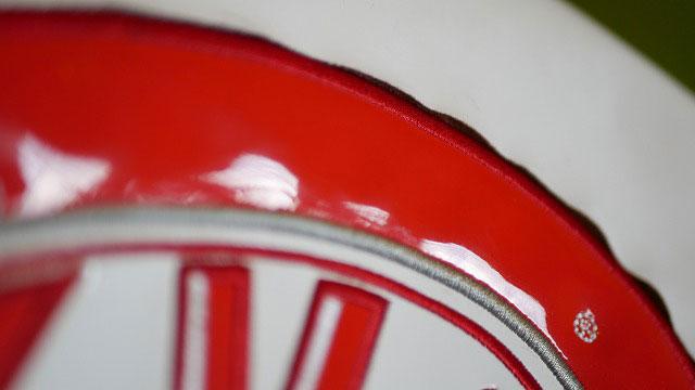 (KitKat)キットカット/キャディバッグのフードカバーロゴ刺繍回りの生地切れ