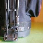 (Le Coq)ルコック/スタンドキャディバッグのスタンド脚が途中で折れ曲がっている