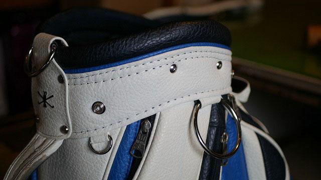 (MIZUNO THE OPEN)ミズノ ジオープン/キャディバッグの口枠を再縫製