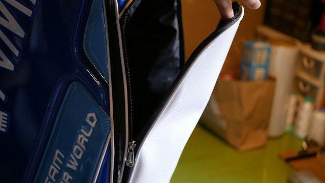 (HONMA)本間ゴルフ/キャディバッグのポケットファスナーの開き具合を調整