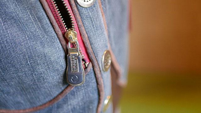 (zipangstudio)琉球ゴルフ/キャディバッグのポケットファスナーの金具を交換修理