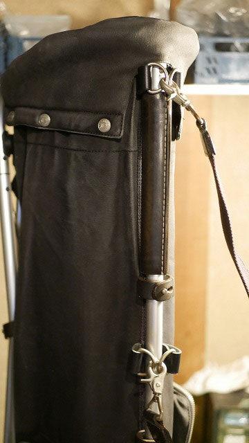 木の庄帆布/キャディバッグ本体の切れた革ベルトを修理