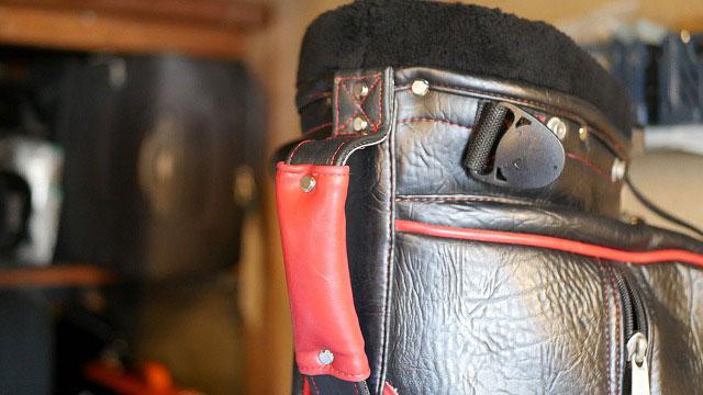 (BELDING)ベルディング/キャディバッグの切れかけたハンドルベルトを修理